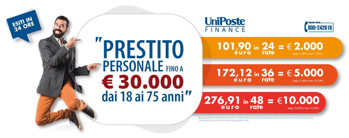 UniPoste Finanziamenti Prestiti personali