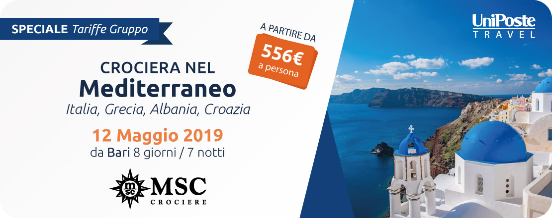 Offerta Crociera nel Mediterraneo UniPoste Travel