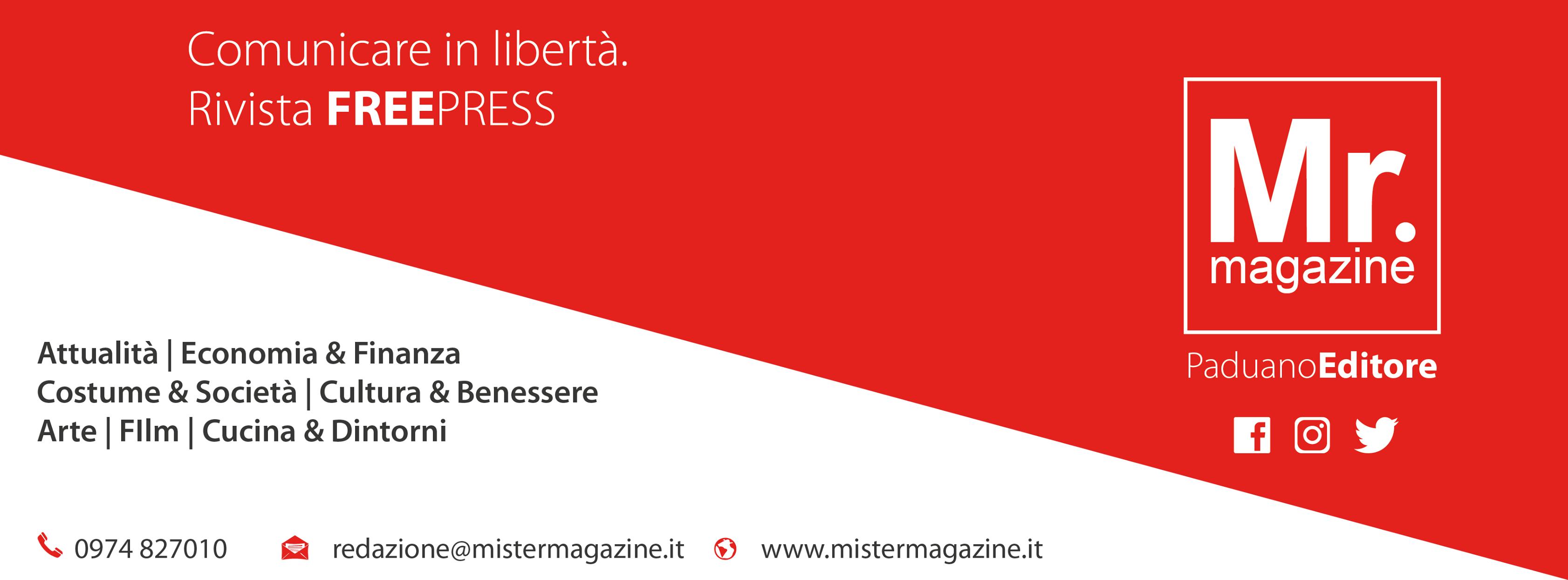 Mistermagazine rivista freepress